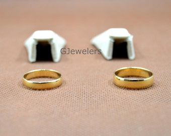 Solid 5mm Real 10K Yellow Gold Comfort Fit Men Women Wedding Band Ring NEW Free Shipping