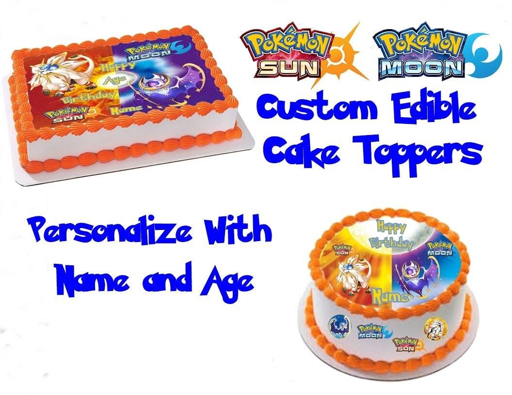 Pokemon Sun And Moon Custom Edible Image Cake Topper