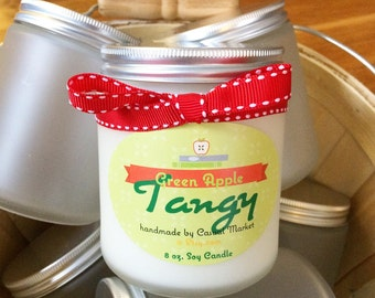 8 oz. Soy Candle - Tangy Green Apple