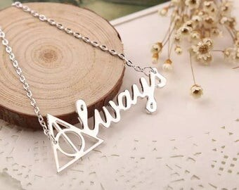 Always Necklace, Harry Potter Necklace, Deathly Hallows  Necklace