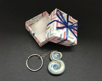 The letter S polymer clay keychain