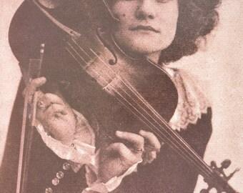 Odette Myrtil print - American actress, singer and violist of French Birth - vintage art print - offset litho - Henri Berssenbrugge