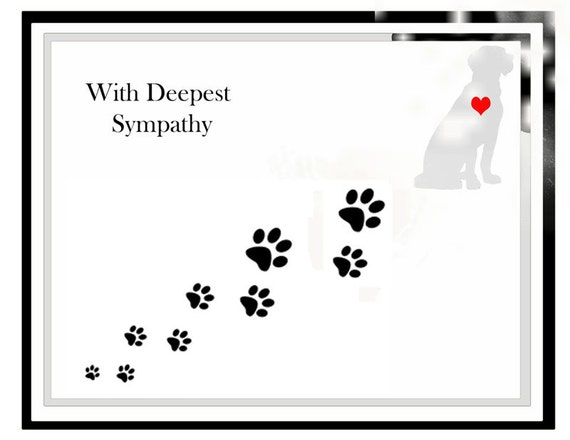 Sympathy Cards For Dogs And Cats