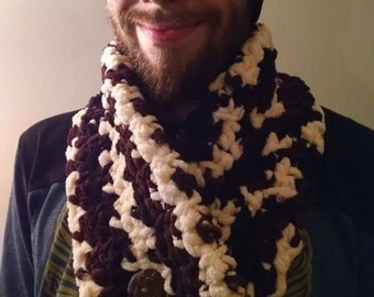 "Hot Cocoa Crochet ""Lazy Cowl"" with Coconut Button"