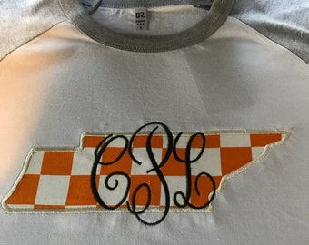 Monogrammed Tennessee State T-Shirt
