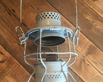 Vintage Hiram L. Piper Co. Railroad Lantern