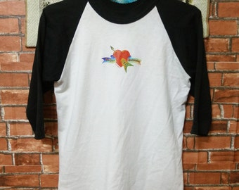 RARE 90's Tom Petty Shirt heartbreakers Echo Tour Raglan T-shirts