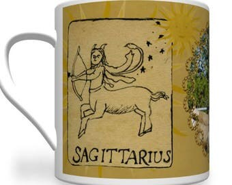 Sagittarius Zodiac Mug Personalised for any relative or friend