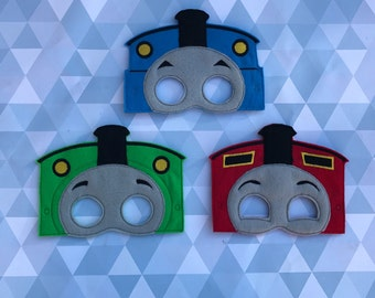 Thomas the train dress up masks, cosplay, pretend play, party favor, train mask, Party Favor - Ready to Ship