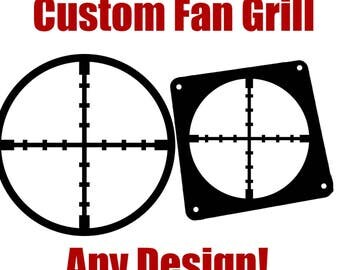 Custom Pc Computer Fan Grill Computer Case Mod! Any Design Or Logo! 40 to 120mm