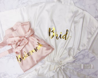Personalized Bridesmaid Robes, Bride Robe, Bridal Robes, Getting Ready Robe, Bridal Shower, Wedding Robe, Wedding Gift, Mother of the Bride