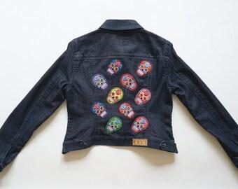 Small Sugar Skulls Denim Jacket
