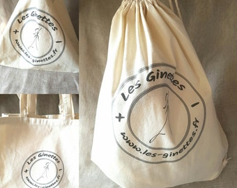 """The Ginettes"" cotton tote bag"