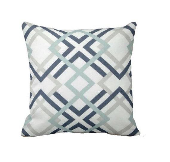 Grey And Teal Pillows Decorative Throw Pillow Covers Grey
