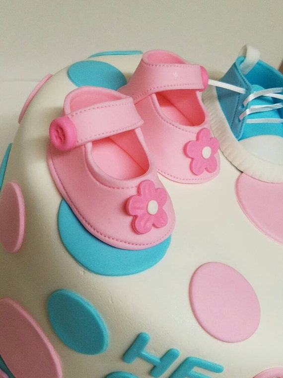 Baby Shower Bootie Cake Topper
