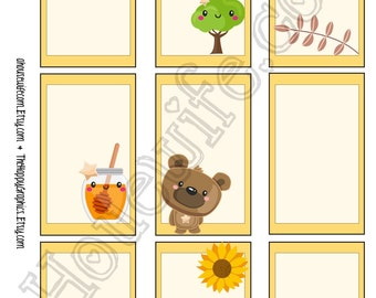 Summer Bear, Happy Planner stickers [221] , Full box, A5 PDF, Instant download
