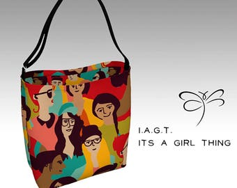 Tote   'I.A.G.T.' (It's A Girl Thing) 'ArtWear' Day Tote