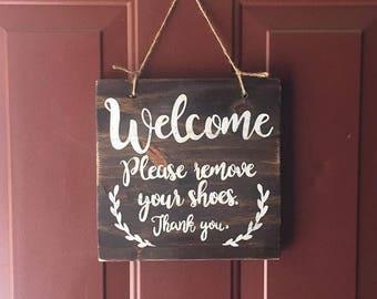 Welcome Door hanger sign,