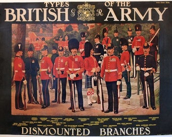 Vintage Types of The British Army Poster A3 Print