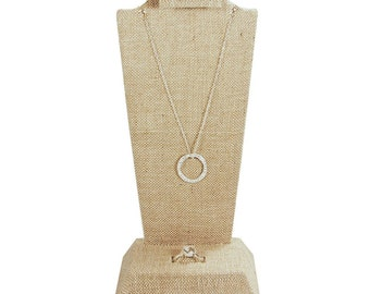 Ikee Design Linen Necklace, Ring and Earring Combination Display (SKU#F9-18(LN))