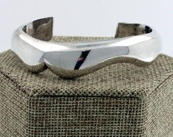 Vintage Sterling Silver 925 Bayanihan Modernist Cuff Bracelet