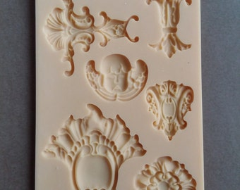 Silicon mold - Ornaments Furniture decoration mold - Epoxy, resin, plaster, polymer clay mold