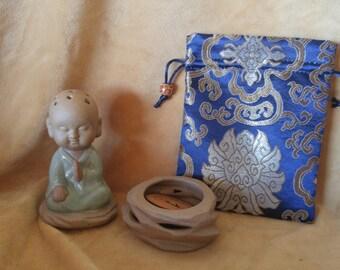 Beautiful traditional monk buddha decor incense holder