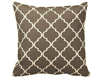 Gray Argyle Pillow Cover