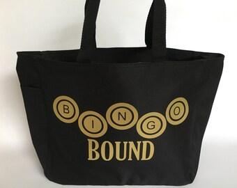 Bingo Tote, Bingo Bag, Custom Bingo Tote, Bingo in Style