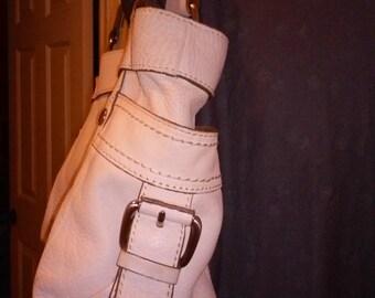 White fossil handbag