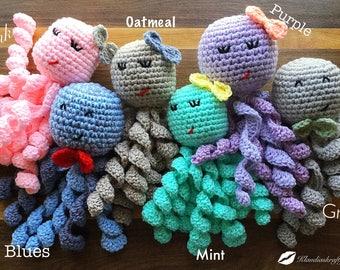 Octopus, newborn octopus, preemie octopus, crochet octopus, crochet bear, crochet newborn toy, newborn, preemie, baby octopus, newborn plush