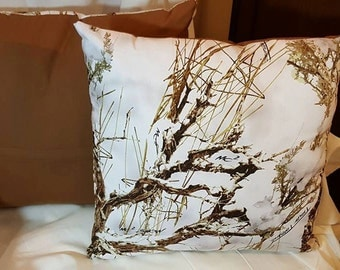 Snowy Timber Pillows 16x16 (Set of 2)
