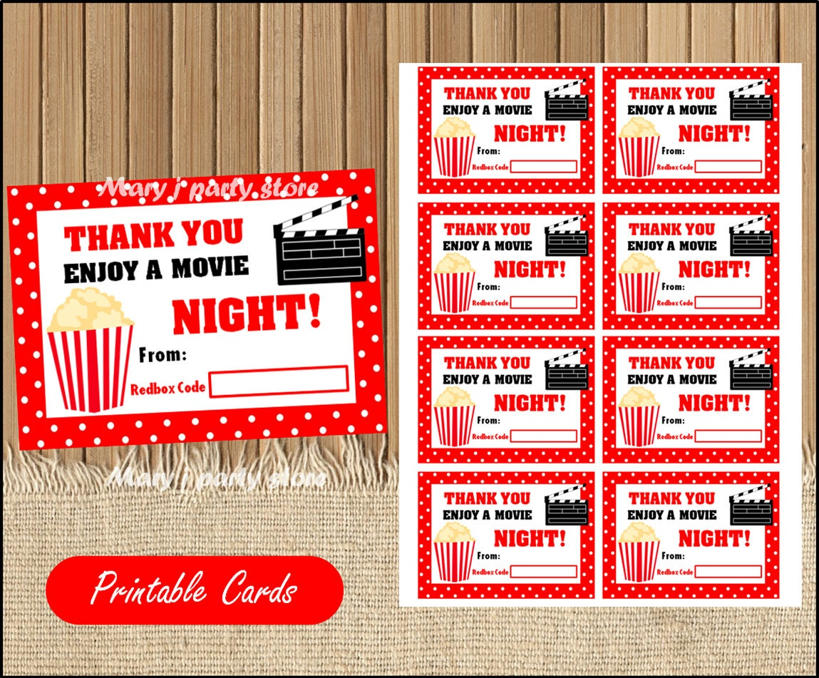 This is a photo of Nifty Redbox Printable Gift Certificate