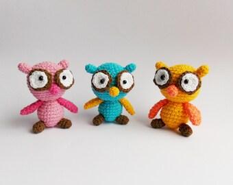 amigurumi owl / crochet owl / stuff toy owl / baby toy owl / soft toy owl / owl / toy owl /