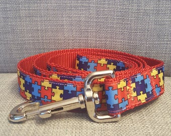 Autism Puzzle Piece Dog Leash