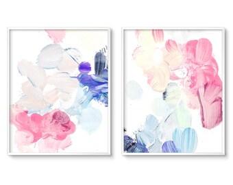 Abstract Nursery Art, Modern Nursery Art, Pastel Painting, Prints, Pastel Nursery, Art, Girl Nursery Decor, Digital Download, Printable Art