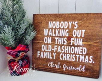 Christmas vacation wood sign, Christmas vacation home decor, Clark Griswold christmas quote, Christmas decor, Holiday decor, Home decor