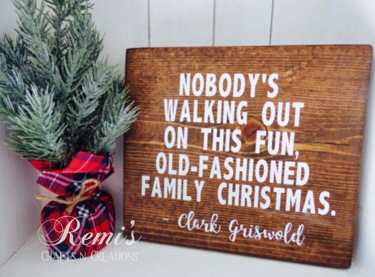 Christmas vacation wood sign christmas vacation home decor for Christmas decoration quotes