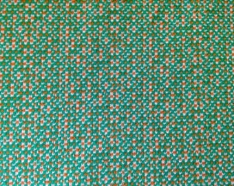 Vintage Polyester Green/Gold/White Fabric - 62 inches by 29 inches