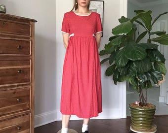 Vintage Red Polka Dot Dress