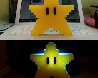 Super Mario Star Night Light