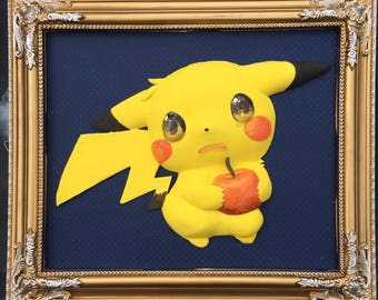 Pichu with an Apple