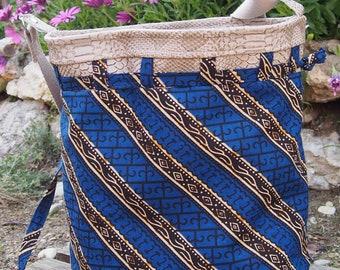 Calypso Blue bucket bag