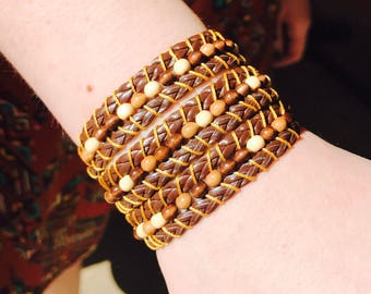 Tan wrap around bracelet
