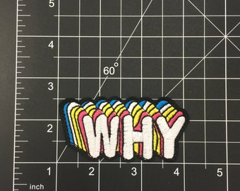 WHY! Iron on Patch Free Shipping!!