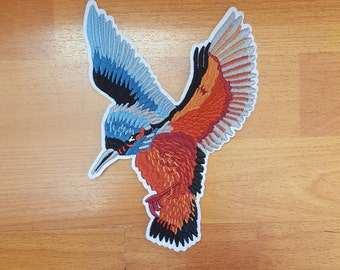 Large Embroidred Bird Iron On Patch  Free Shipping!