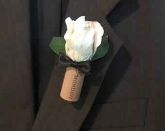 Bow Tie Winecork Boutonniere