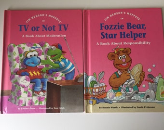 """1992 """"Jim Henson's Muppets In"""" series of children's illustrated hardcover morality books"""