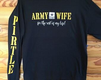 Army Wife long sleeve tee