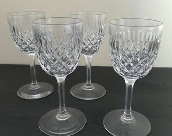 Four Beautiful Stemmed Glasses